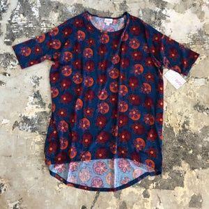 NWT Red & Blue Irma Short Sleeve Shirt